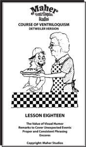 Maher Course Of Ventriloquism Lesson 18