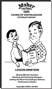 Maher Course Of Ventriloquism Lesson 19