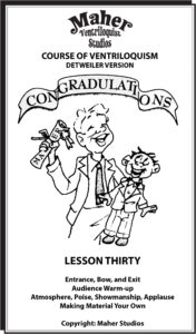Maher Course of Ventriloquism Lesson 30