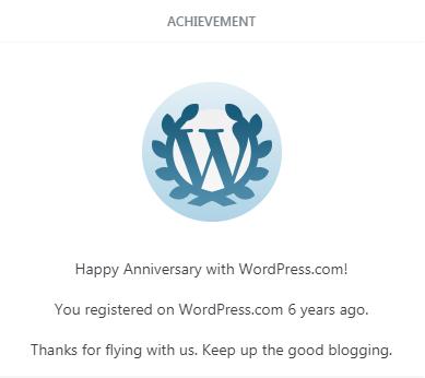 6 Years in WordPress!
