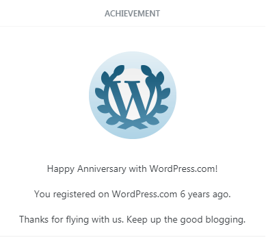6 Years in WordPress!