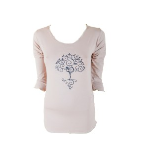 W3 Everyday Tee Tree of Life Taupe Dhs145