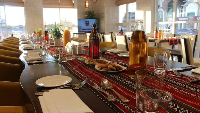 Iftar setup at The Dining Room