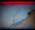 Så här såg det ut på sjökortet då vi seglade in i Colon