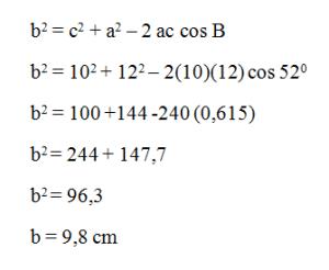 contoh penggunaan aturan cosinus