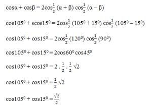 contoh soal penjumlahan cosinus