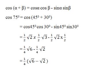 contoh soal rumus jumlah dan selisih dua sudut 2