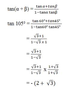 contoh soal rumus jumlah dan selisih dua sudut 3
