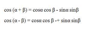 rumus jumlah dua sudut dan selisih dua sudut untuk cosinus