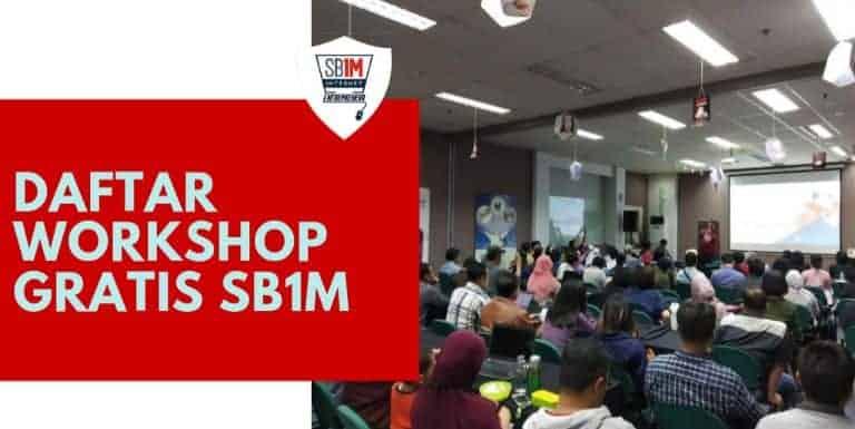 cara daftar workshop gratis SB1M