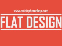 Font Flat Design