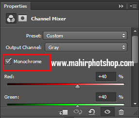 Monochrome Channel Mixer