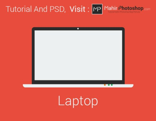 Laptop Flat Design