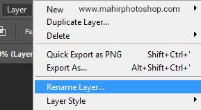 mengubah nama layer