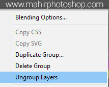 Ungroup Layers