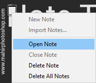 Membuka Notes Photoshop