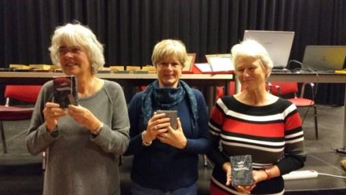 Jenneke Kragt (2e) - Ria Rep (winnaar) - Patricia Schilte (3e)