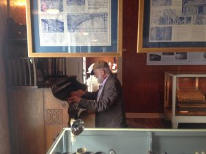 Kurt Schwertsik playing the Pump Organ in the history museum of Gold Hill, CO following MahlerFest XXIX