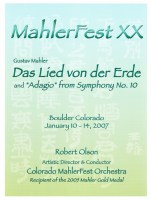 MahlerFest XX - 2007 Program Book