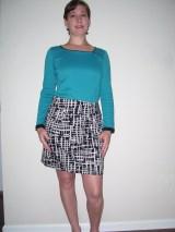Orange Zip Skirt & Teal tee