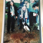 Roni Casrel Planting tree and memory stone in honour of Luyans exiled people