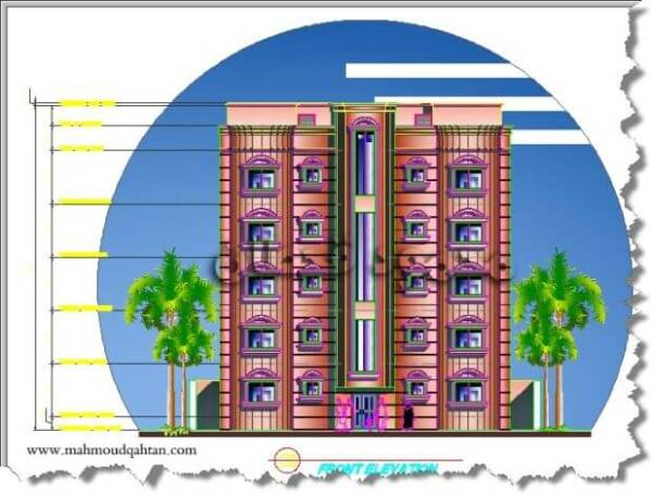 واجهة عمارة خمسة أدوار Five Story Building