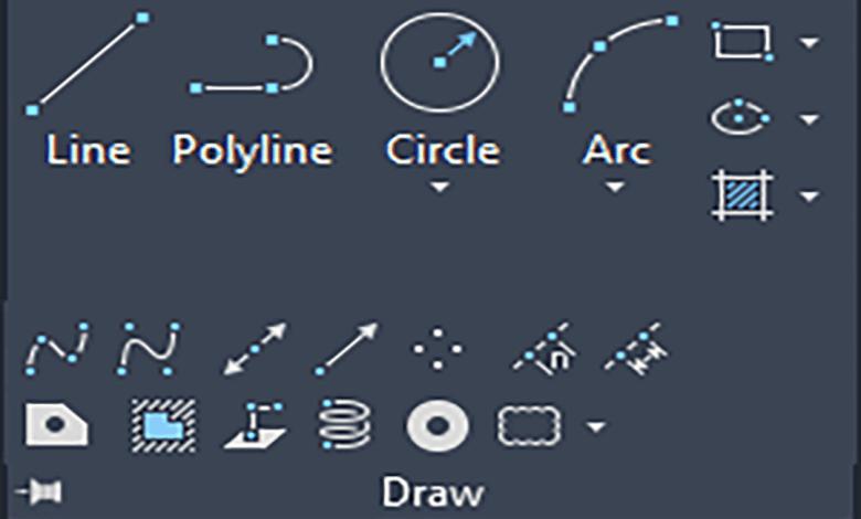 أدوات الرسم في الأتوكاد 2021 Drawing Tools in AutoCAD