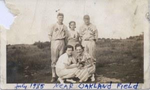 2001-90-136 Haselton Dodgers July 1935 near Oakland Field possibly identified