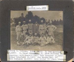 2001-90-332 Hubbard AC 1907 baseball