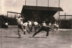78-57 baseball Game Youngstown Sheet and tube co man with arms raised