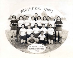 94-20-32 Wovenstripe girls 2nd row 1st fr left Carmel Carrozzino