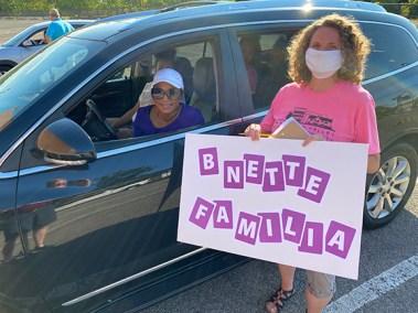 BNETTE FAMILIA and Pit Crew member, Jessica Trickett