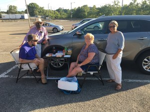 DECAPUA tailgated with Pit Crew members, Gene Grupp and Stephanie Rosselli