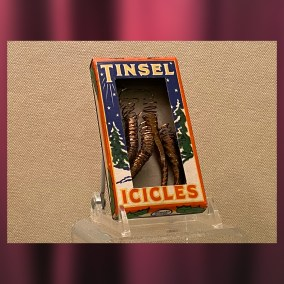 Tinsel Icicles, 1930s  <br><br>Gift of Maureen Creager, 85.11.160.4