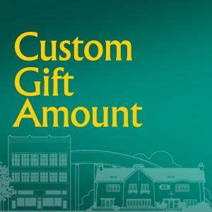 Donate a Custom Gift Amount