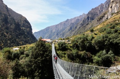Nepal, mountain, trekking, Langtang, bridge