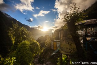 Langtang, mountains, trekking, Nepal,sunset, mountain sunset
