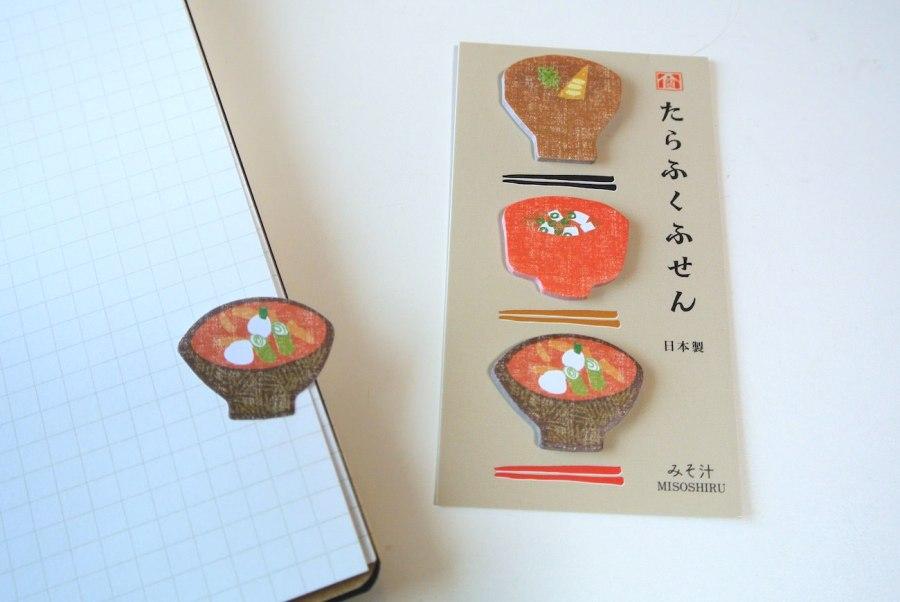 おみそ汁でほっこり。和食を味わえる文房具「たらふくシリーズ」