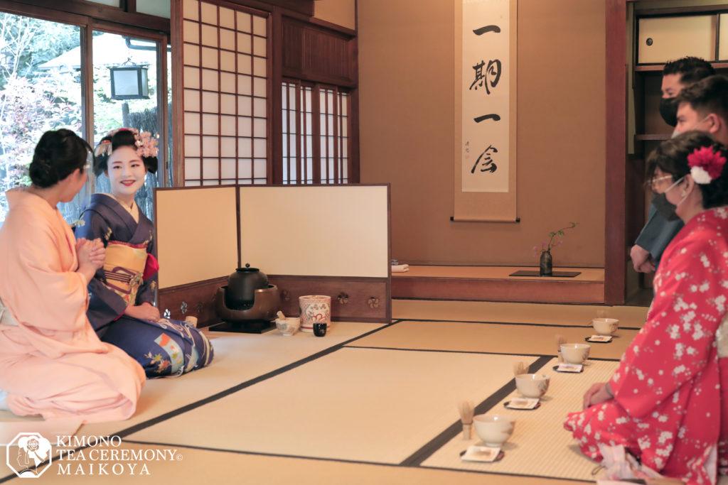 Geisha Maiko Meeting Kyoto tea ceremony