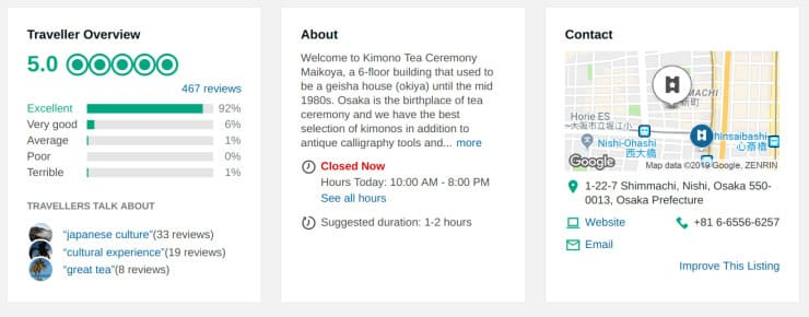 Maikoya Kimono Experience 5 Star Rated with Trip Advisor