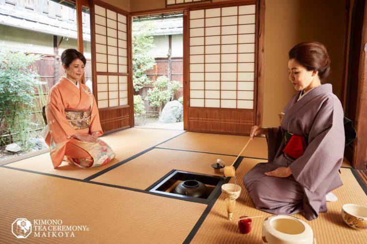 PRIVATE Kimono Tea Ceremony in Kyoto Gion Shijo Station
