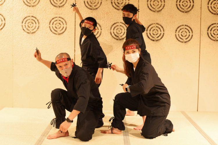 ninja family and kids