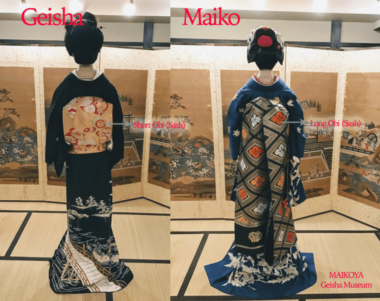Maiko Geiko Geisha Back Geisha Museum