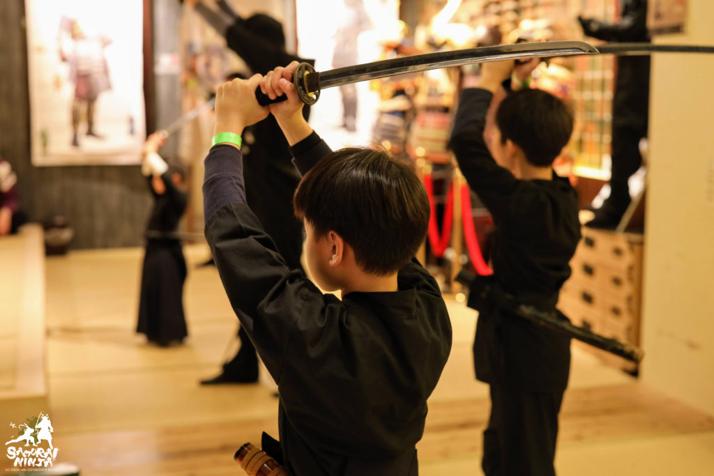 samurai sword experience for kids and families kyoto
