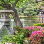 Famous garden in Japan