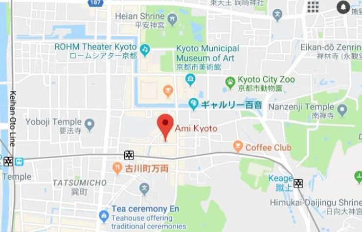 Ami Kyoto Map