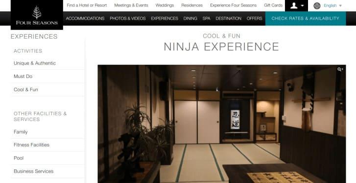 Four Seasons Ninja Experience