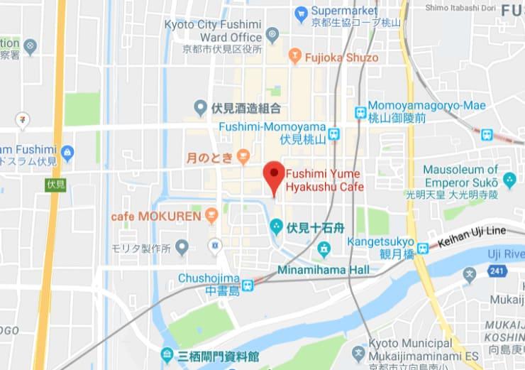 Fushimi Yume Hyakushu map