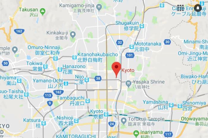 Kyoto Free Walking Tour Map