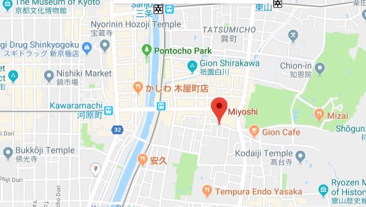 Nikuno Takumi Miyoshi map